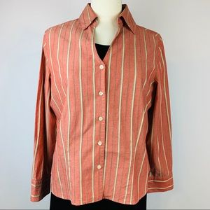Evan Picone Long Sleeved Button Up 14 Cotton